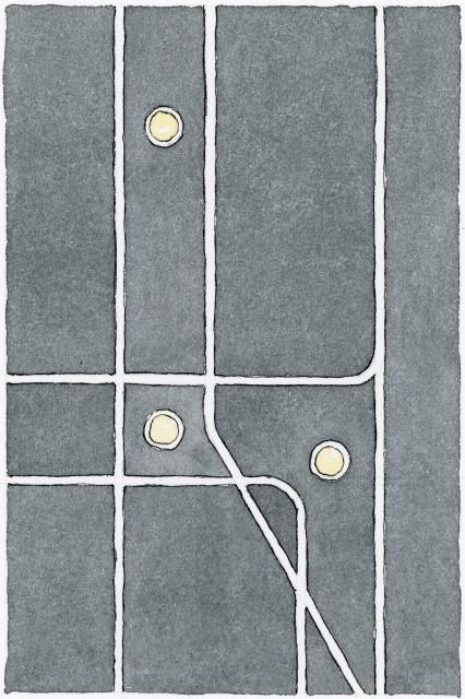 Subway Map Floating On A New York Sidewalk.Soho Walks Explore Float